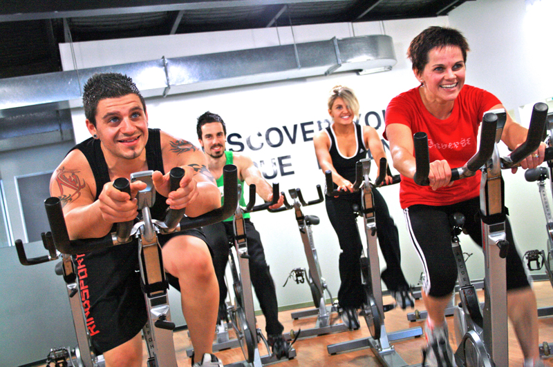 Group Spinning Class Photo