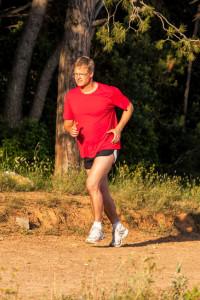Man Running A 10K Race