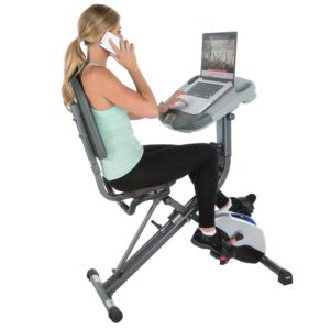 Exerpeutic WorkFit 1000 Desk Station Folding Exercise Bike