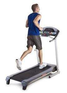 Man Running On Weslo Treadmill