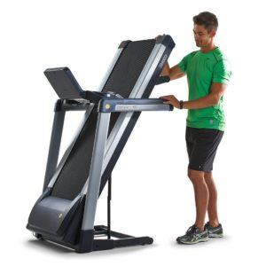 TR4000i Treadmill Folded In Upright Position