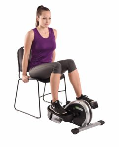 Woman Using A Stamina InMotion Mini Elliptical Trainer