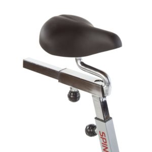 Extra Wide Adjustable Seat On The Spinner S3 Bike