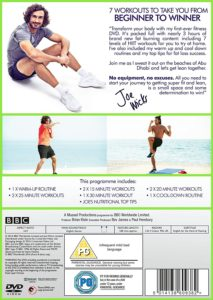 Back Cover Of Joe Wicks Fitness DVD
