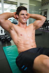 Abdominal Crunches In The Gym