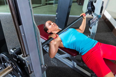 Bench Press Chest Exercise On The Smith Machine