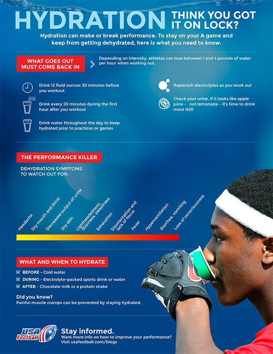 Hydration During Workouts Infographic