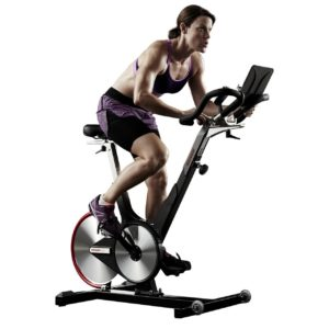 Woman Riding Keiser M3i Spin Bike