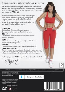 Davina Fit In 15 DVD Back Cover