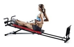 Woman Using Weider Home Gym
