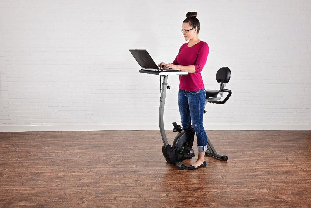 Stamina Wirk Ride Workstation In Standing Position