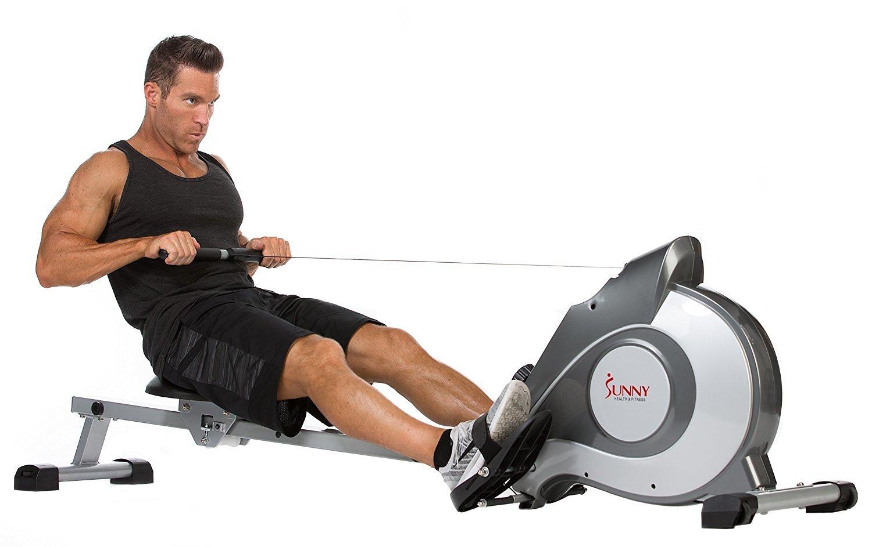 Man Using SF-RW5515 Rower