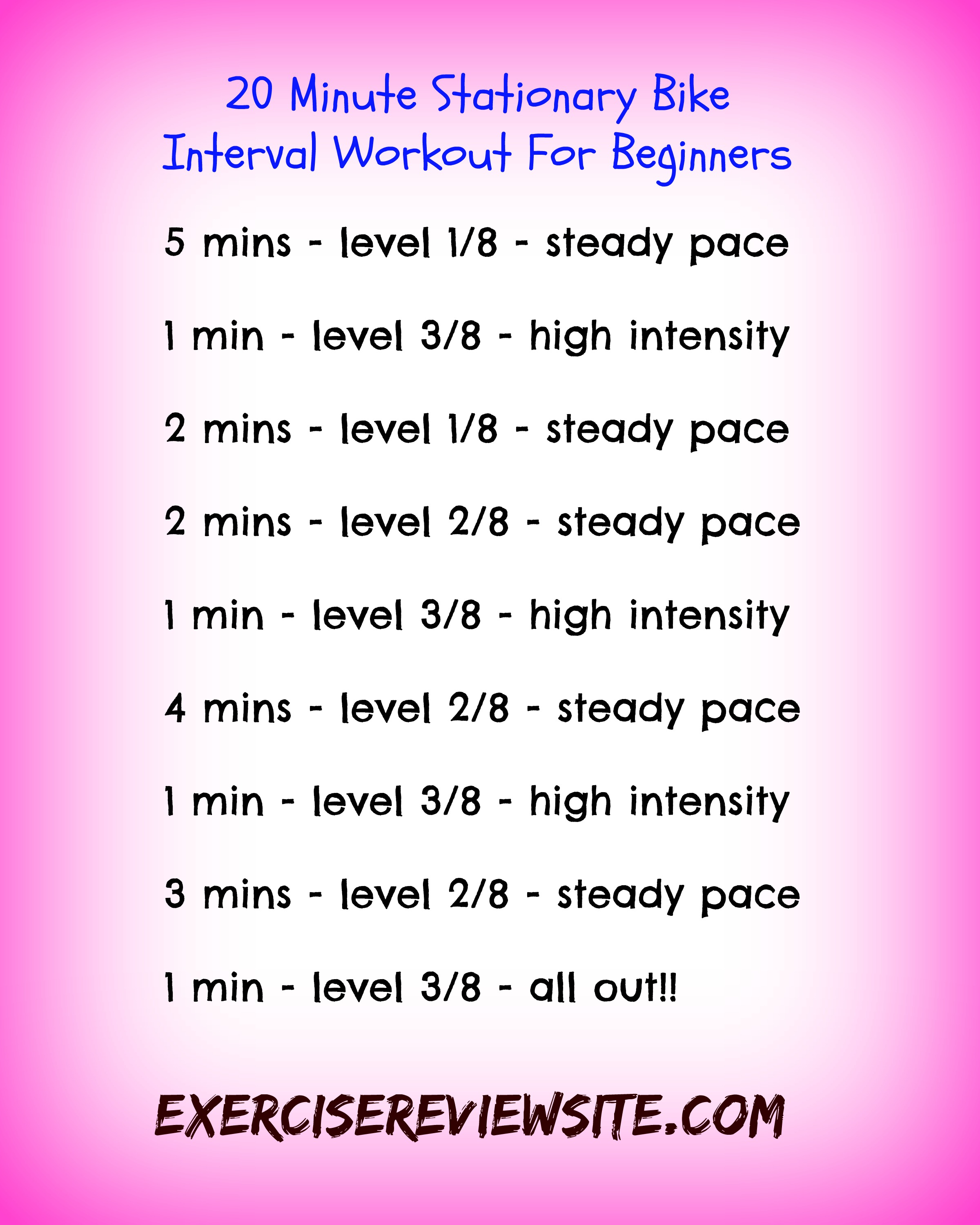 How To Do Interval Training On A Stationary Exercise Bike