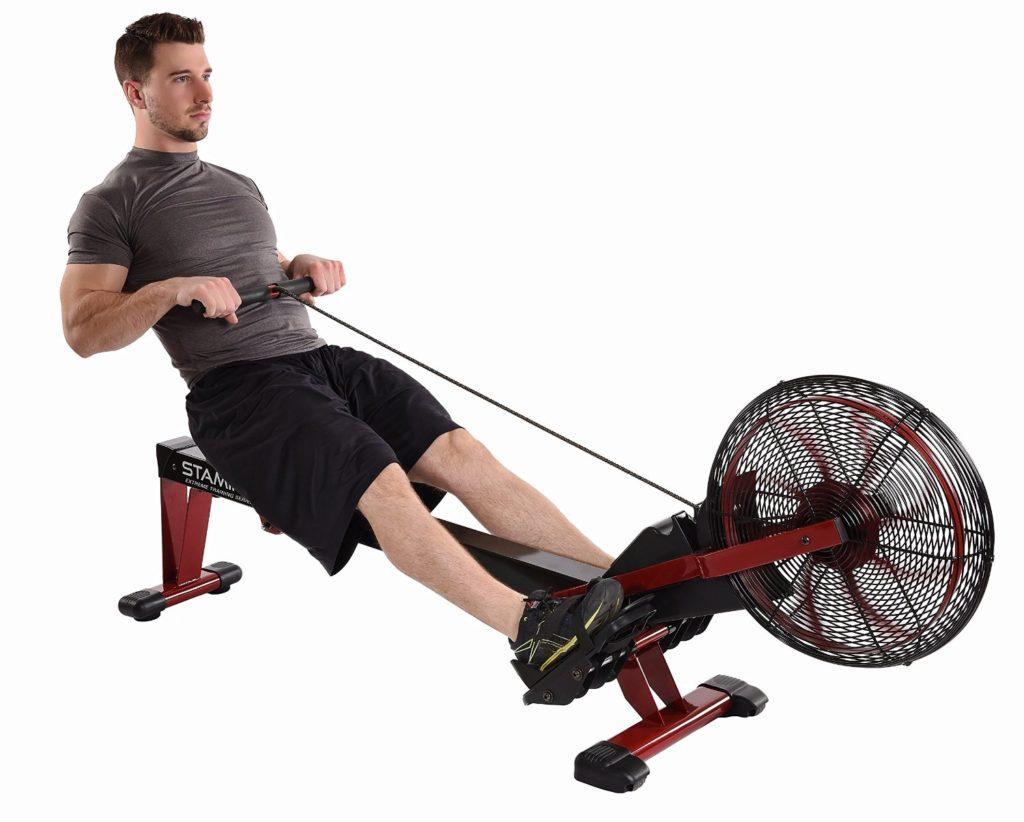 Man Using Stamina X Air Rowing Machine