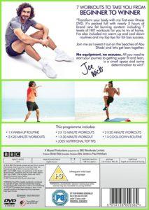 Back Cover Of Joe Wicks Fitness DVD
