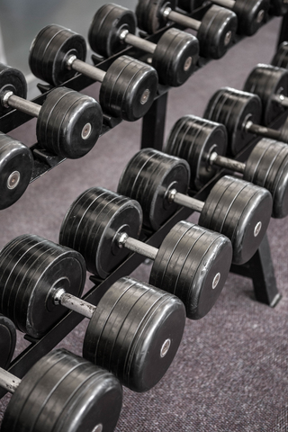 Dumbbell Rack At Gym