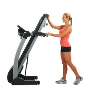 TR1200i Treadmill Folded Away