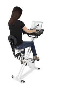 Girl Working And Exercising On FitDesk 3.0