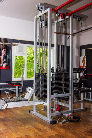 photo of a luxury home gym