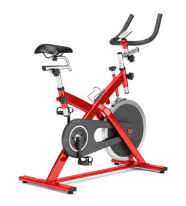 Red Indoor Cycling Exercise Bike